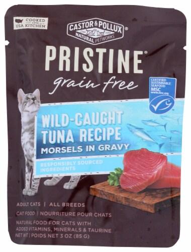 Castor & Pollux Pristine Grain Free Wild-Caught Tuna Recipe Adult Wet Cat Food Perspective: front