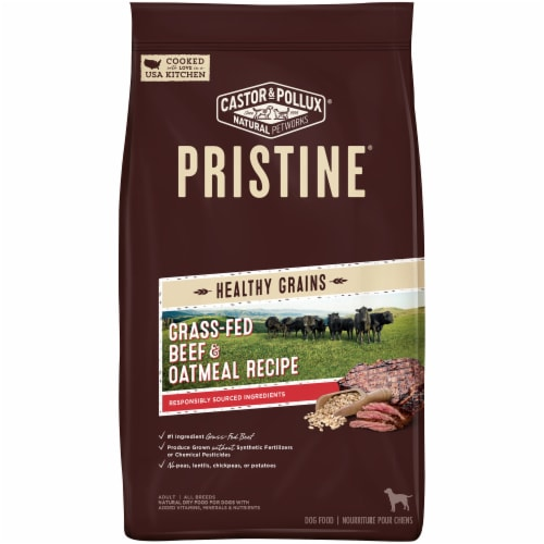 Castor & Pollux Pristine Grass Fed Beef & Oatmeal Recipe Perspective: front