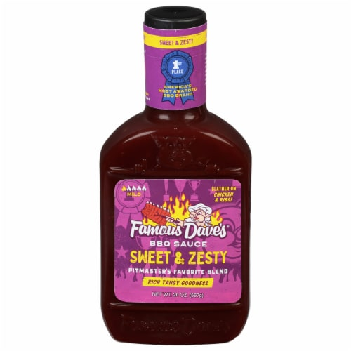 Famous Dave's Sweet & Zesty BBQ Sauce Perspective: front