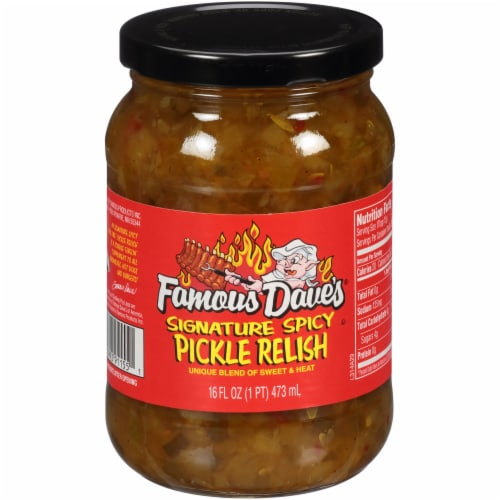 Famous Dave's Signature Spicy Pickle Relish Perspective: front