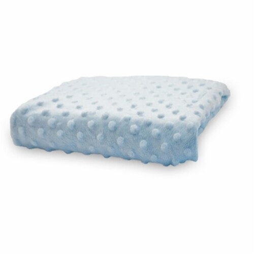 Compact Minky Dot Changing Pad Cover - Blue Perspective: front