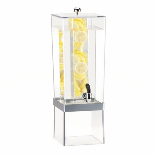 3 gal Econo Beverage Dispenser, Silver - 8 x 10 x 24 in. Perspective: front