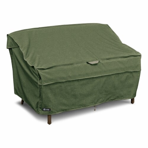 Montlake Fade Safe Heavy Duty Patio Bench & Loveseat Sofa Cover, Heather Fern - Small Perspective: front