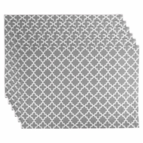 Gray Lattice Placemat - Set of 6 Perspective: front
