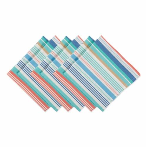 Seashore Stripe Napkin - Set of 6 Perspective: front