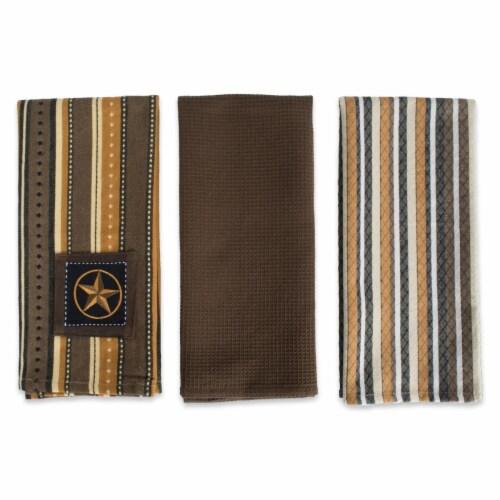 Applique Star Dish Towel Set - Set of 3 Perspective: front