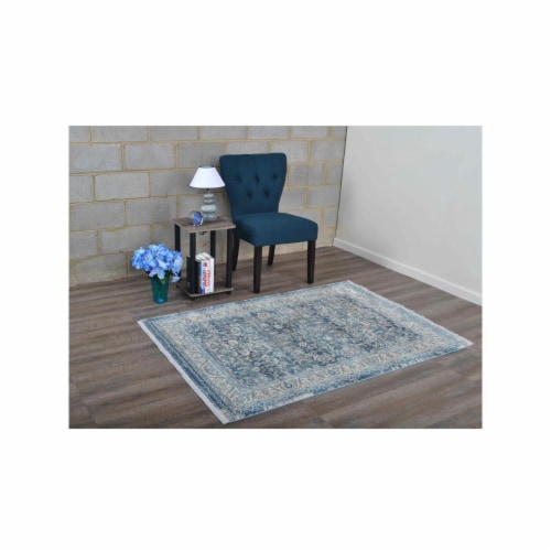 1 ft. 8 in. x 2 ft. 10 in. Machine Woven Crossweave Polyester Oriental Rectangle Area Rug, Gr Perspective: front