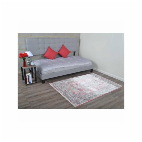 5 ft. x 7 ft. 10 in. Machine Woven Crossweave Polyester Oriental Rectangle Area Rug, Multi Co Perspective: front