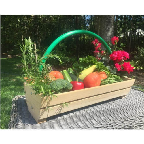 Harvest Basket Handcrafted in Louisiana Perspective: front