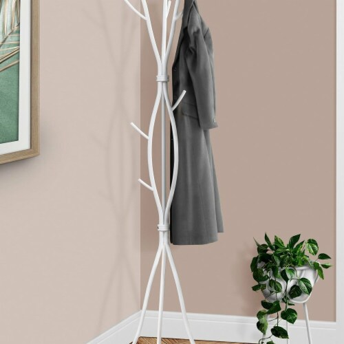 74 in. H, Coat Rack - White Perspective: front