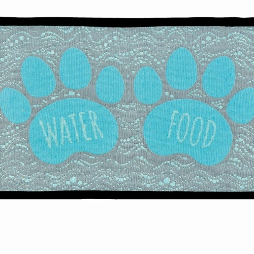 Foot & Water Fashion Mat for Dogs Perspective: front