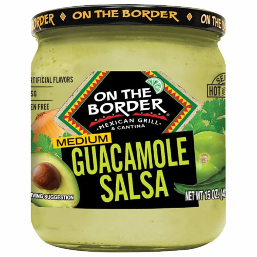 On the Border Medium Guacamole Salsa Perspective: front