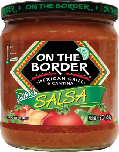 On the Border Mild Salsa Perspective: front