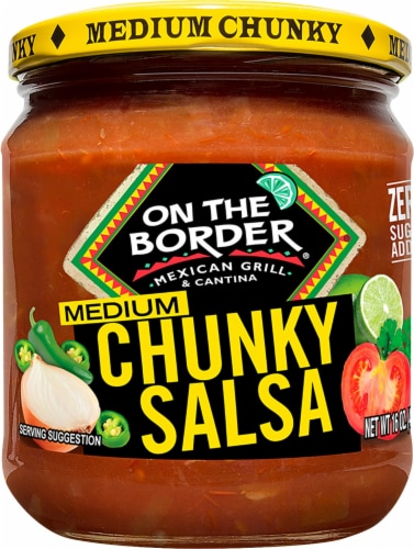 On The Border Medium Chunky Style Salsa Perspective: front