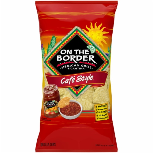 On The Border Cafe Style Tortilla Chips Perspective: front
