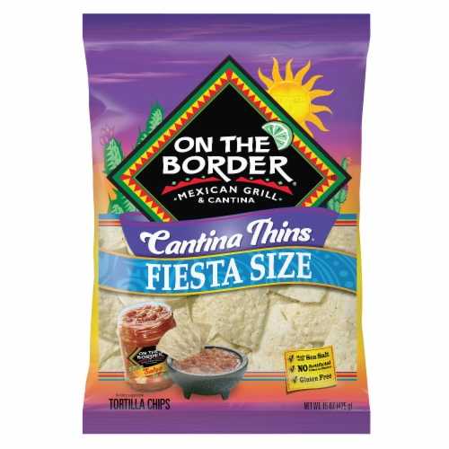 On The Border Cantina Thin Tortilla Chips Perspective: front