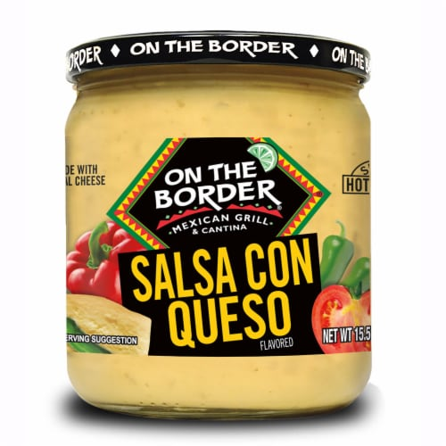 On The Border Salsa Con Queso Dip Perspective: front