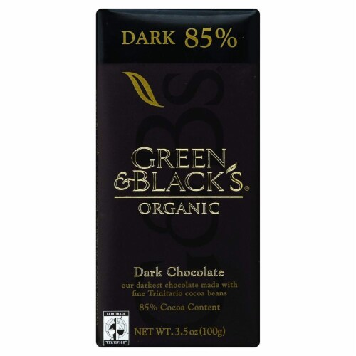 Green & Black's, Dark Chocolate Bar, 85% Cacao, Organic, 3.5 oz Perspective: front