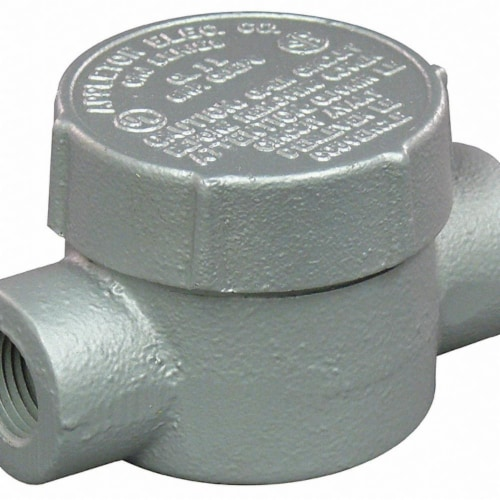 Appleton Electric Conduit Outlet Body,Iron,C,3/4 In.  GRJC75 Perspective: front