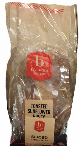 La Brea Sliced Toasted Sunflower Honey Bread Perspective: front