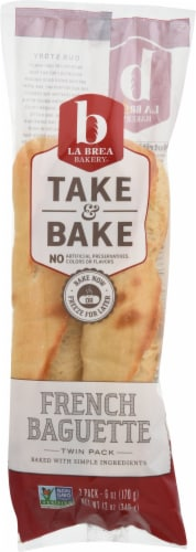 La Brea Take & Bake French Baguette Twin Pack Perspective: front
