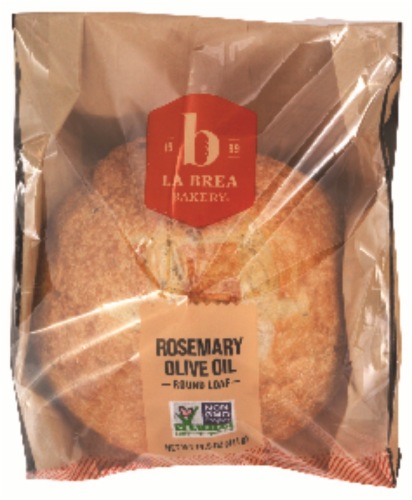 La Brea Sliced Rosemary Olive Oil Round Bread Perspective: front