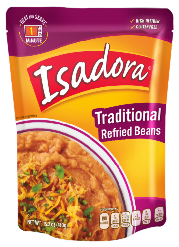 Isadora Traditional Refried Beans Perspective: front