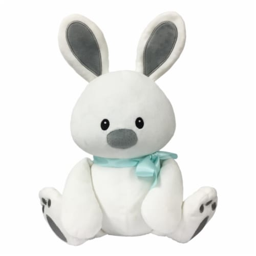 Borders Unlimited Sweet Dreams Furry Friends Cloud Bunny with Teal Ribbon for 3 Yrs+ Perspective: front