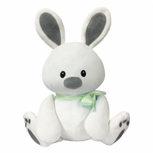 Borders Unlimited Sweet Dreams Furry Friends Cloud Bunny with Green Ribbon for 3 Yrs + Perspective: front