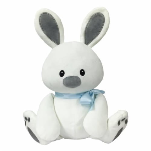 Borders Unlimited Sweet Dreams Furry Friends Cloud Bunny with Blue Ribbon for 3 ys+ Perspective: front