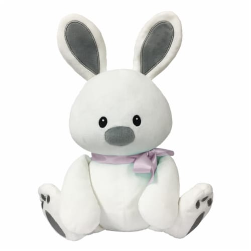 Borders Unlimited Sweet Dreams Furry Friends Cloud Bunny with Pink Ribbon for 3 Yrs+ Perspective: front
