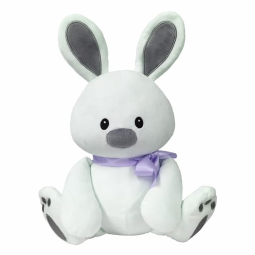 Borders Unlimited Sweet Dreams Furry Friends Cloud Bunny with Lavender Ribbon for 3 Yrs+ Perspective: front