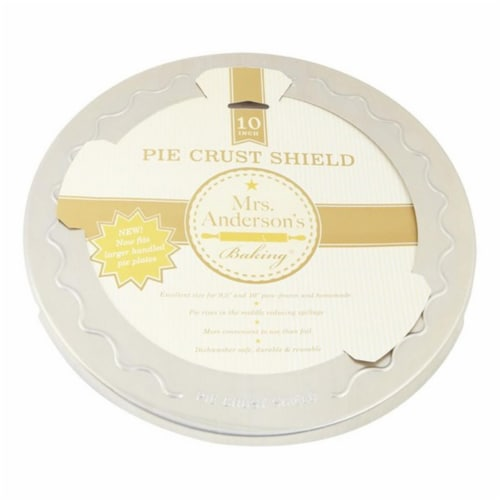 Mrs. Anderson's Pie Crust Shield - Silver Perspective: front