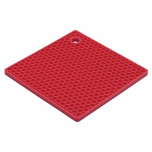 HIC 234792 7 in. Baking Essentials Honeycomb Trivet, Cherry Perspective: front