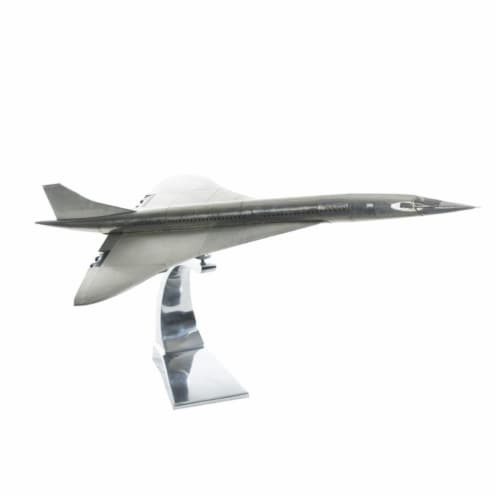 Authentic Models AP460 Concorde Model Plane, Polished Aluminum Perspective: front