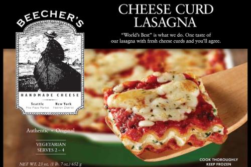 Beecher's Cheese Curd Lasagna Perspective: front