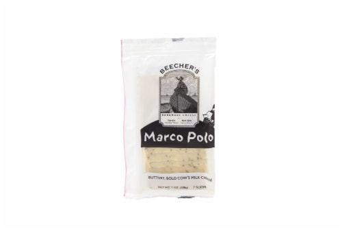 Beecher's Marco Polo Cheese Slices Perspective: front