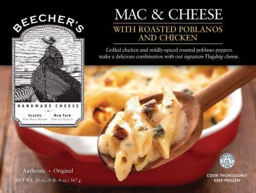 Beecher's Mac & Cheese with Roasted Poblanos Perspective: front