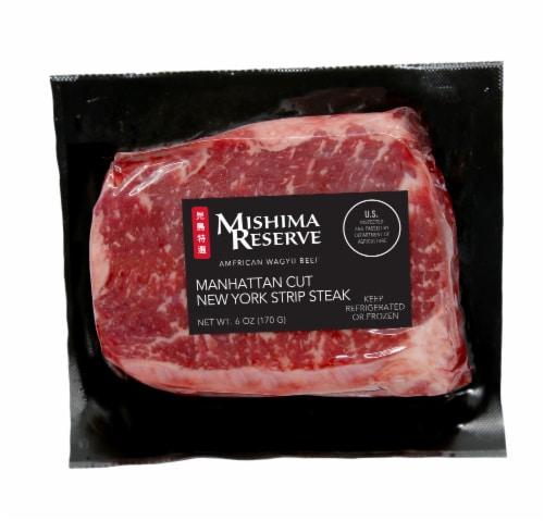 Mishima Reserve Manhattan Cut New York Strip Steak Perspective: front