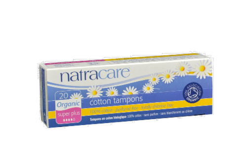 Natracare Super Plus Cotton Tampons Perspective: front