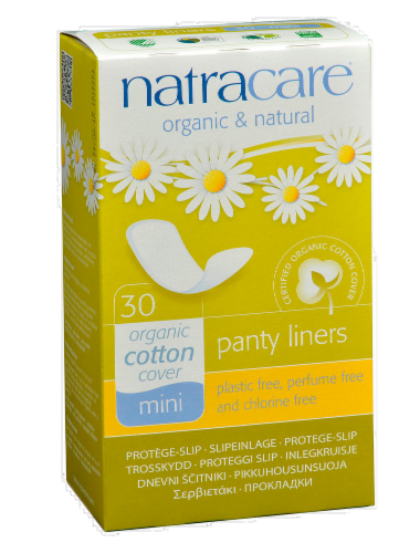 Natracare Mini Breathable Panty Liners Perspective: front