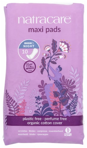 Natracare Night-time Maxi Pads Perspective: front