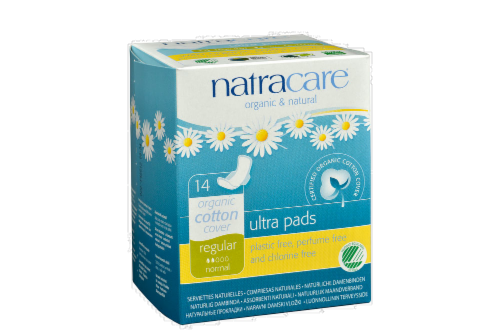Natracare Organic Ultra Slender Pads with Wings Perspective: front