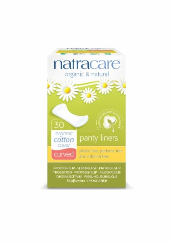 NatraCare Curved Natural Panty Liners 30 Count Perspective: front