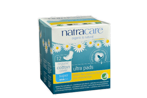 Natracare Organic Ultra Super Pads With Wings Perspective: front