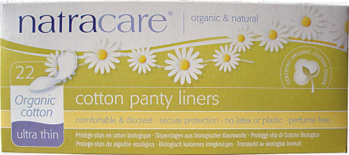 Natracare Ultra Thin Cotton Panty Liners Perspective: front