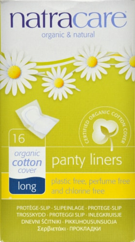 Natracare Panty Liners Long Wrap Perspective: front