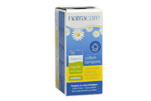 Natracare Organic Regular Tampons Perspective: front