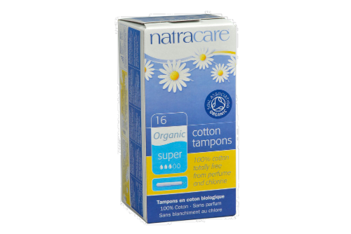 Natracare Organic Super Tampons Perspective: front