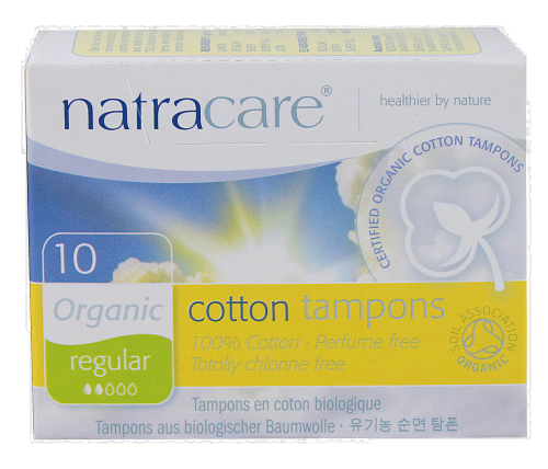 Natracare Organic Regular Tampon Perspective: front